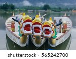 dragon head on the dragon boat. | Shutterstock . vector #565242700