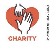 donation and volunteer work...   Shutterstock .eps vector #565243036