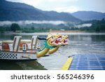 dragon head on the dragon boat. | Shutterstock . vector #565246396