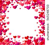 valentines day background with... | Shutterstock . vector #565248733