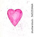 hand drawn illustration of pink ... | Shutterstock . vector #565253464