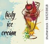 ice cream vector   Shutterstock .eps vector #565253818