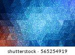 dark blue vector christmas... | Shutterstock .eps vector #565254919
