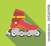 roller skates icon. flat... | Shutterstock .eps vector #565262908
