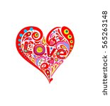 funny hippie print with... | Shutterstock .eps vector #565263148