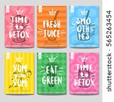 Set Colorful Healthy Food...