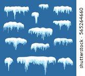 set of white snow design...   Shutterstock .eps vector #565264660