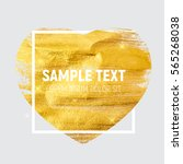 gold paint glittering textured... | Shutterstock .eps vector #565268038