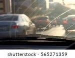 dirty windshield  pollution... | Shutterstock . vector #565271359