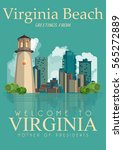 virginia vector american poster.... | Shutterstock .eps vector #565272889