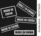 made in china text rubber seal...   Shutterstock .eps vector #565276630