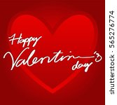 greeting card happy valentine's ... | Shutterstock .eps vector #565276774