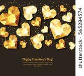 valentines day vector... | Shutterstock .eps vector #565284574