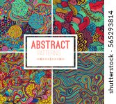 set of four seamless abstract... | Shutterstock .eps vector #565293814
