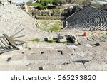 largest greco roman theater in... | Shutterstock . vector #565293820