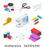 color set of objects for sewing ... | Shutterstock .eps vector #565301440