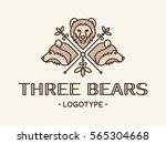 three bears logo design  ... | Shutterstock .eps vector #565304668
