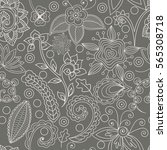 vector seamless pattern with... | Shutterstock .eps vector #565308718