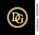 initials d and g logo luxurious ... | Shutterstock .eps vector #565308844