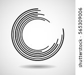 abstract technology circles ... | Shutterstock .eps vector #565309006