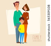 happy family. father  mother... | Shutterstock .eps vector #565309108