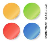 color round stickers set on... | Shutterstock .eps vector #565313260