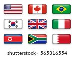 set of world flags round... | Shutterstock .eps vector #565316554
