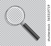 realistic magnifying glass with ... | Shutterstock .eps vector #565319719