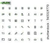 set of 42 document editing line ... | Shutterstock .eps vector #565319770
