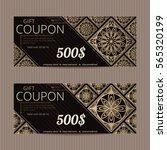 gift voucher in luxury style.... | Shutterstock .eps vector #565320199