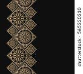 golden frame in oriental style. ... | Shutterstock .eps vector #565320310