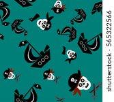 children's pirate pattern skull ...   Shutterstock .eps vector #565322566