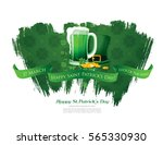 happy saint patrick's day.... | Shutterstock .eps vector #565330930