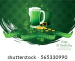 happy saint patrick's day.... | Shutterstock .eps vector #565330990