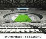 3d render of a round rugby... | Shutterstock . vector #565335040