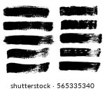 set of grunge vector texture... | Shutterstock .eps vector #565335340