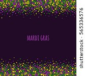 mardi gras dotted pattern with... | Shutterstock .eps vector #565336576