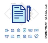 finance and business icons | Shutterstock .eps vector #565337668