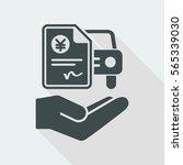 car billing document   yen | Shutterstock .eps vector #565339030