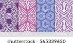set of geometric seamless... | Shutterstock .eps vector #565339630