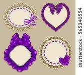 set of elegant templates ornate ... | Shutterstock .eps vector #565340554