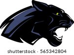 black panther mascot side view | Shutterstock .eps vector #565342804