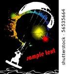 grunge kite zone. vector... | Shutterstock .eps vector #56535664