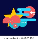 vector illustration of bright... | Shutterstock .eps vector #565361158