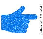 index hand grainy textured icon ...