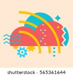 vector illustration of bright... | Shutterstock .eps vector #565361644