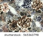 the beautiful of art fabric... | Shutterstock . vector #565363798