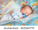 Newborn Baby Boy Sleeping Nipple