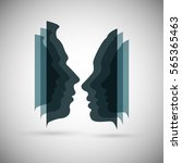 the concept of male and female... | Shutterstock .eps vector #565365463