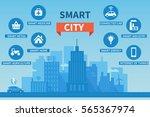 smart city concept illustration ... | Shutterstock . vector #565367974